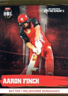 2016/17 CA & BBL Cricket Gold Parallel #120 Aaron Finch Melbourne Renegades