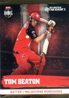 2016/17 CA & BBL Cricket Gold Parallel #116 Tom Beaton Melbourne Renegades
