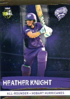2016/17 CA & BBL Cricket Gold Parallel #114 Heather Knight Hobart Hurricanes