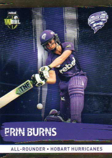 2016/17 CA & BBL Cricket Gold Parallel #112 Erin Burns Hobart Hurricanes
