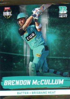 2016/17 CA & BBL Cricket Gold Parallel #89 Brendon McCullum Brisbane Heat