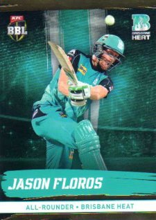 2016/17 CA & BBL Cricket Gold Parallel #86 Jason Floros Brisbane Heat