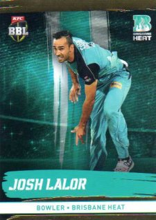 2016/17 CA & BBL Cricket Gold Parallel #87 Josh Lalor Brisbane Heat