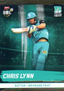 2016/17 CA & BBL Cricket Gold Parallel #88 Chris Lynn Brisbane Heat