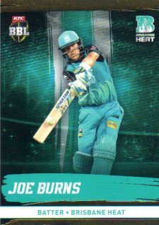 2016/17 CA & BBL Cricket Gold Parallel #83 Joe Burns Brisbane Heat