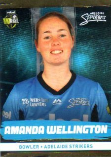 2016/17 CA & BBL Cricket Gold Parallel #81 Amanda Wellington Adelaide Strikers