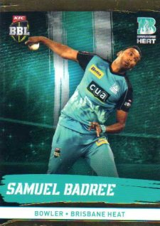2016/17 CA & BBL Cricket Gold Parallel #82 Samuel Badree Brisbane Heat