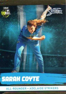 2016/17 CA & BBL Cricket Gold Parallel #78 Sarah Coyte Adelaide Strikers