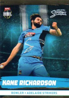 2016/17 CA & BBL Cricket Gold Parallel #76 Kane Richardson Adelaide Strikers
