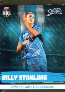 2016/17 CA & BBL Cricket Gold Parallel #77 Billy Stanlake Adelaide Strikers