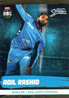 2016/17 CA & BBL Cricket Gold Parallel #75 Adil Rashid Adelaide Strikers