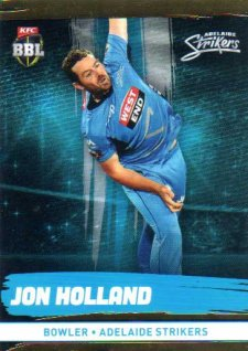 2016/17 CA & BBL Cricket Gold Parallel #69 Jon Holland Adelaide Strikers