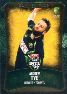2016/17 CA & BBL Cricket Gold Parallel #61 Andrew Tye Australia T20