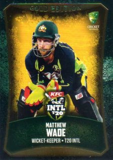 2016/17 CA & BBL Cricket Gold Parallel #62 Matthew Wade Australia T20