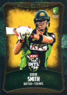 2016/17 CA & BBL Cricket Gold Parallel #60 Steve Smith Australia T20