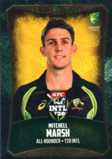 2016/17 CA & BBL Cricket Gold Parallel #58 Mitchell Marsh Australia T20