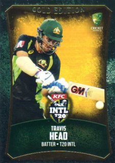 2016/17 CA & BBL Cricket Gold Parallel #55 Travis Head Australia T20