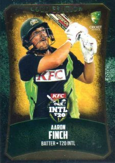 2016/17 CA & BBL Cricket Gold Parallel #52 Aaron Finch Australia T20