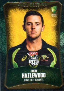 2016/17 CA & BBL Cricket Gold Parallel #54 Josh Hazelwood Australia T20