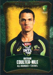 2016/17 CA & BBL Cricket Gold Parallel #50 Nathan Coulter-Nile Australia T20