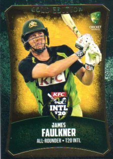 2016/17 CA & BBL Cricket Gold Parallel #51 James Faulkner Australia T20