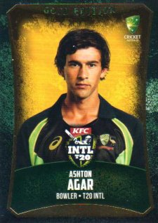 2016/17 CA & BBL Cricket Gold Parallel #49 Ashton Agar Australia T20