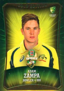 2016/17 CA & BBL Cricket Gold Parallel #48 Adam Zampa Australia ODI