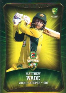 2016/17 CA & BBL Cricket Gold Parallel #46 Matthew Wade Australia ODI
