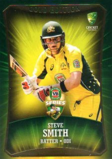 2016/17 CA & BBL Cricket Gold Parallel #44 Steve Smith Australia ODI