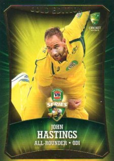 2016/17 CA & BBL Cricket Gold Parallel #37 John Hastings Australia ODI