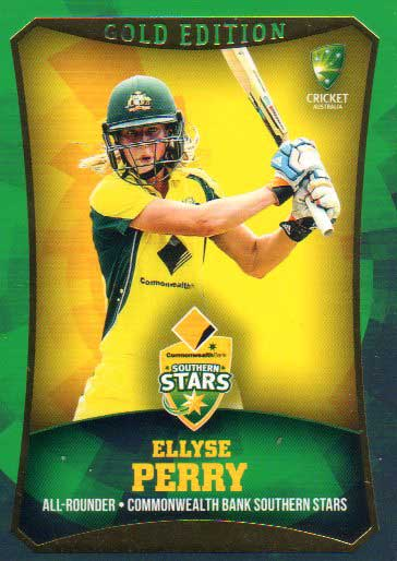 2016/17 CA & BBL Cricket Gold Parallel #30 Ellyse Perry Southern Stars
