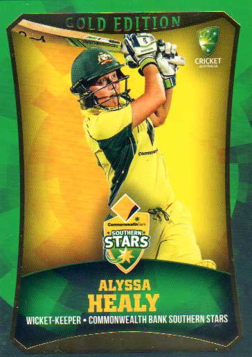 2016/17 CA & BBL Cricket Gold Parallel #25 Alyssa Healy Southern Stars