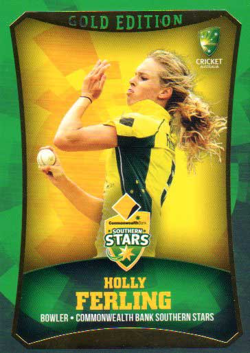2016/17 CA & BBL Cricket Gold Parallel #23 Holly Ferling Southern Stars