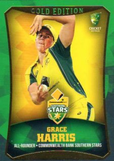 2016/17 CA & BBL Cricket Gold Parallel #24 Grace Harris Southern Stars
