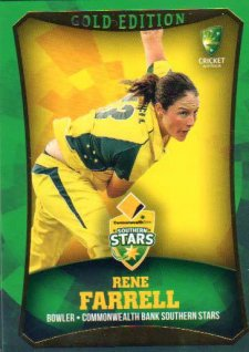 2016/17 CA & BBL Cricket Gold Parallel #22 Rene Farrell Southern Stars