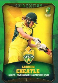 2016/17 CA & BBL Cricket Gold Parallel #20 Lauren Cheatle Southern Stars