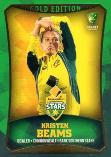 2016/17 CA & BBL Cricket Gold Parallel #17 Kristen Beams Southern Stars