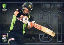 2016/17 Tap N Play CA & BBL Cricket Silver Jersey Numbers JNS-07 David Warner Australia #67/175