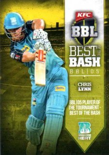 2016/17 Tap N Play CA & BBL Cricket Award Winners AW-06 Chris Lynn Heat