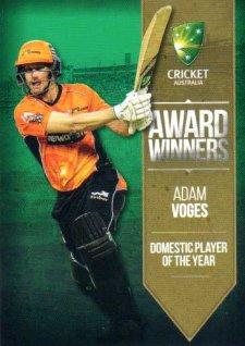 2016/17 Tap N Play CA & BBL Cricket Award Winners AW-05 Adam Voges Scorchers