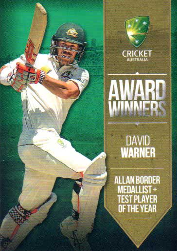 2016/17 Tap N Play CA & BBL Cricket Award Winners AW-01 David Warner
