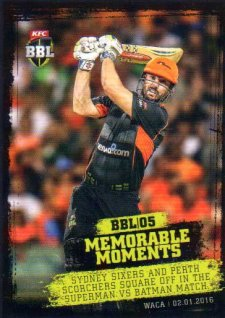 2016/17 Tap N Play CA & BBL Cricket Memorable Moments # MM-11 Marsh Scorchers