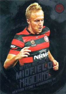 2016/17 Tap N Play FFA & A-League Soccer Midfield Magicians MM12 Mitch Nichols Wanderers