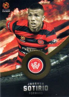 2016/17 FFA & A-League Soccer Gold Parallel #199 Jaushua Sotirio Wanderers