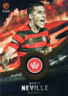 2016/17 FFA & A-League Soccer Gold Parallel #195 Scott Neville Wanderers