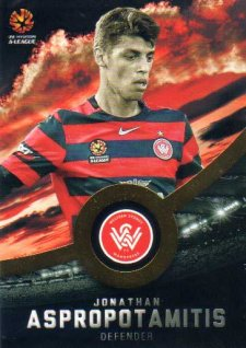 2016/17 FFA & A-League Soccer Gold Parallel #186 Jonathan Aspropotamitis Wanderers