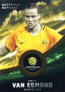 2016/17 FFA & A-League Soccer Gold Parallel #39 Emily Van Egmond Matildas