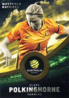 2016/17 FFA & A-League Soccer Gold Parallel #37 Clare Polkinghorne Matildas