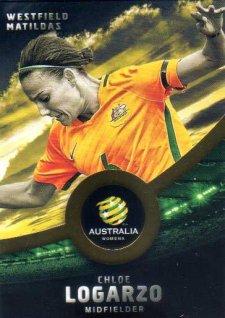 2016/17 FFA & A-League Soccer Gold Parallel #36 Chloe Logarzo Matildas