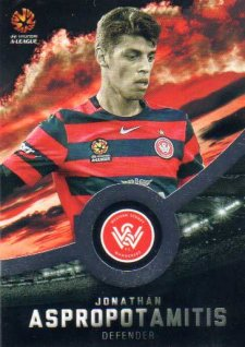 2016/17 FFA & A-League Soccer Silver Parallel #186 Jonathan Aspropotamitis Wanderers